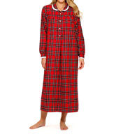Lanz of Salzburg Long Sleeve Flannel Peter Pan Collar Gown 5616814