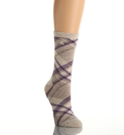 Lauren Ralph Lauren Holiday Fuzzies Angora Bias Plaid Boot Sock 331002