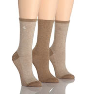 Lauren Ralph Lauren Tweed Cotton Trouser Socks - 3 Pair Pack 34004