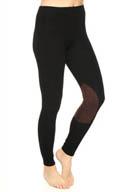 Lauren Ralph Lauren Twill Jodhpur Legging with Micro Suede Panel 5689