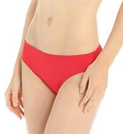 Lauren Ralph Lauren Swimwear Laguna Solids Hipster with Logo Plate Swim Bottom LR5F093