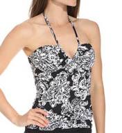 Lauren Ralph Lauren Swimwear Deauville Paisley V-Neck Bandini Slimming Swim Top LR5F285
