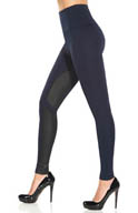 Lysse Leggings Ponte Pleather Equestrian 1509