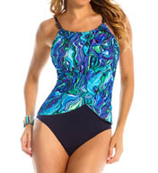 MagicSuit Agate Lisa Draped Jersey Halter One Piece 453555