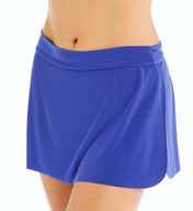 MagicSuit Solid Jersey Pull On Tennis Skirt Swim Bottom 453671