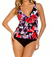 MagicSuit Bromance Corynne Tiered Tankini Swim Top 454047