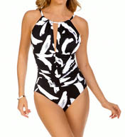 MagicSuit Stroke of Genius Kat Shirred Waist One Piece 454373