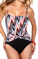 MagicSuit Shockwave Jerry Twist Waist One Piece Swimsuit 475877