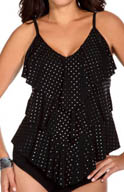MagicSuit Stud Muffin Rita All Over Tiered Tankini Swim Top 477344
