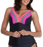 Maidenform Beach Lift & Support Underwire Tankini Swim Top 397T139