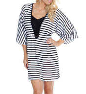 Maidenform Beach Mesh Stripe Tunic Cover Up 416C802