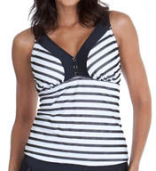 Maidenform Beach Lift & Support Underwire Tankini Swim Top 416T508