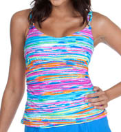 Maidenform Beach Lift & Support Underwire Tankini Swim Top 446T339