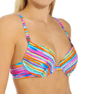 Maidenform Beach Wave Runner Custom Lift Underwire Swim Top 446T392