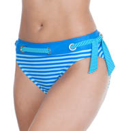 Maidenform Beach Twin Stripes Hi-Waist Swim Bottom 491B363