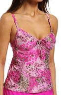 Maidenform Beach Wild Life Custom Lift Underwire Tankini Swim Top 6411344
