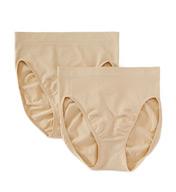 Maidenform Everyday Value Seamless Hi Cut Panties - 2 Pack 12586