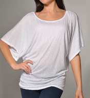 Michael Stars Slub Jersey Off the Shoulder Dolman Sleeve 6212