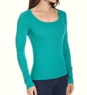 Michael Stars Supima Long Sleeve Scoop Neck Top 8920
