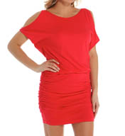 Michael Stars Elbow Open Sleeve Tee Dress 9550