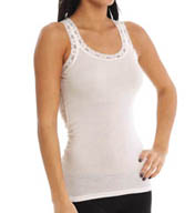 Michael Stars Lace Edge Tank L160