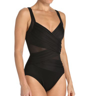 Miraclesuit New Sensations Madero Illusion Wrap 1-Pc Swimsuit 363165