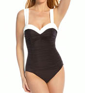 Miraclesuit New Sensations Saxon Pleated Neckline One Piece 448639