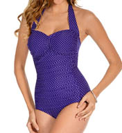 Miraclesuit Pin Point Spellbound Retro Halter One Piece 449443