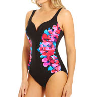 Miraclesuit Side Course Temptress Floral One Piece Swimsuit 450530