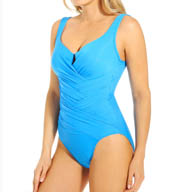 Miraclesuit Must Haves Gandolf Notch Neckline Wrap One Piece 451170