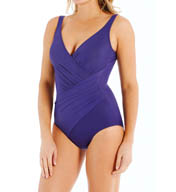 Miraclesuit Must Haves Oceanus Side Wrap One Piece Swimsuit 451288