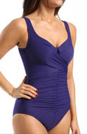 Miraclesuit Up and Coming Sangria Draped One Piece Swimsuit 471836