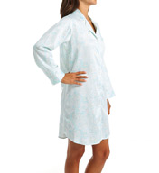Miss Elaine Brushed Back Satin Sleepshirt 186105