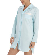 Miss Elaine Brushed Back Satin Sleepshirt 186115