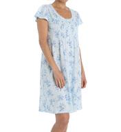 Miss Elaine Slinky Knit Cap Sleeve Chemise 204465