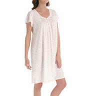 Miss Elaine Silkyknit Cap Sleeve Gown 209474
