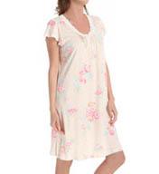 Miss Elaine Soft Interlock Knit Gown 209814