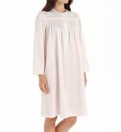 Miss Elaine Brushed Back Satin Long Sleeve Short Gown 251134