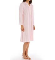 Miss Elaine Diamond Honeycomb Long Sleeve Short Gown 251824