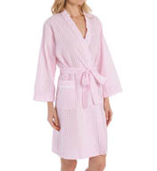 Miss Elaine Seersucker Short Robe 303604