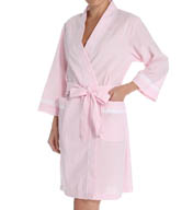 Miss Elaine Seersucker Wrap Robe 304605