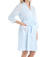 Miss Elaine Cotton Lawn Short Wrap Robe 304715