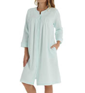 Miss Elaine Silkyknit Brushed Waffle Snap Front Robe 341464