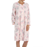 Miss Elaine Sofiknit Quilt in Knit Button Front Robe 356415