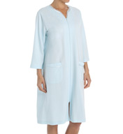 Miss Elaine Slinky Knit French Terry Short Robe 364455