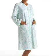Miss Elaine French Terry Short Zip Robe 366435