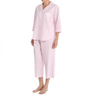 Miss Elaine Seersucker Capri PJ Set 404605