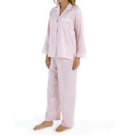 Miss Elaine Brushed Back Satin Printed PJ Set 411124