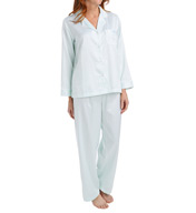 Miss Elaine Brushed Back Satin PJ Set 416135
