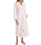 Miss Elaine Honeycomb Cuddle Fleece Long Zip Robe 666895